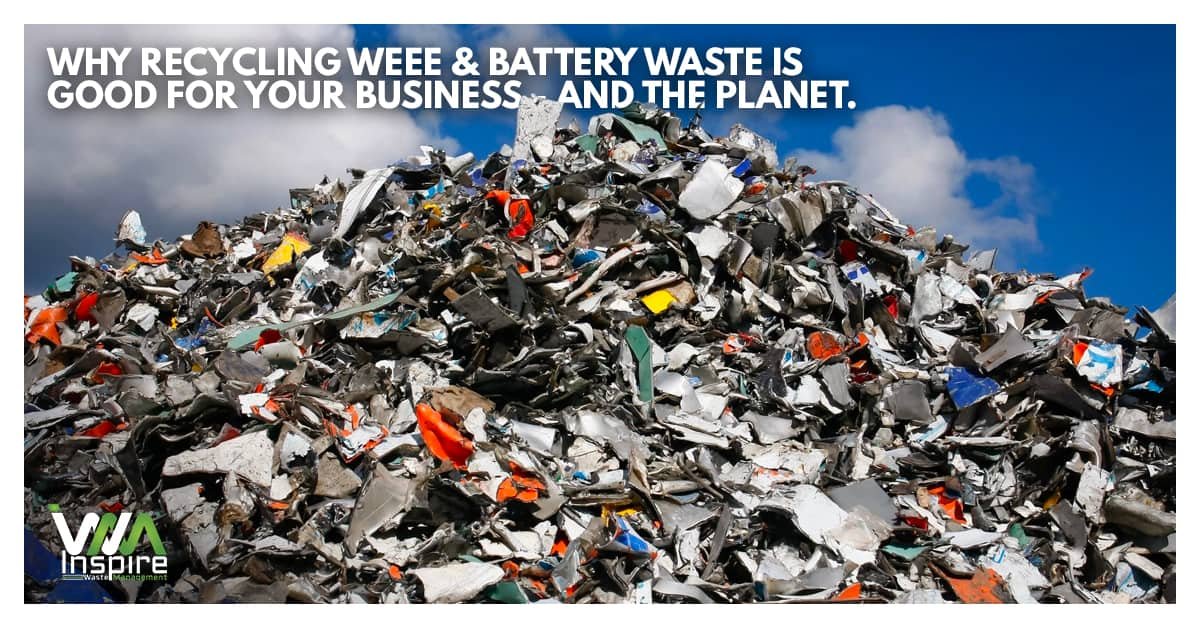 Recycling WEEE battery waste