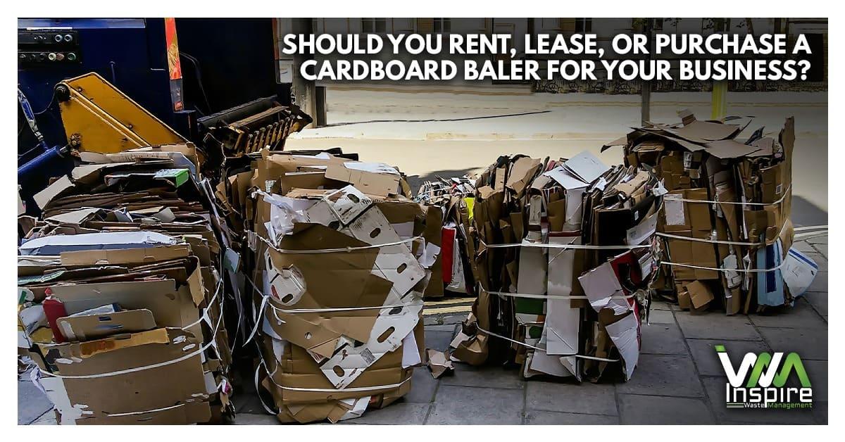 Should rent lease purchase cardboard baler