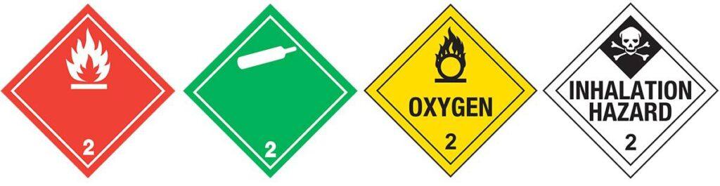 HAZMAT Class 2 Hazardous Gases