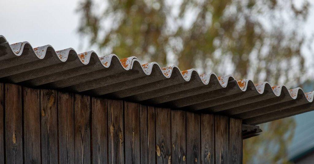 Asbestos construction building roof