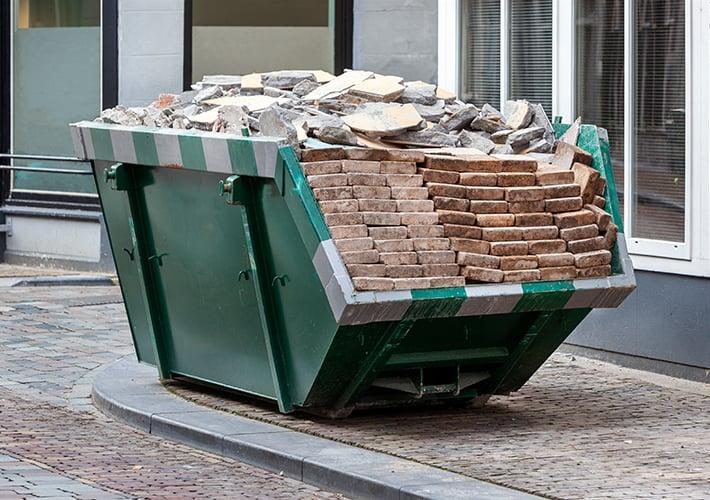 Construction waste management bin